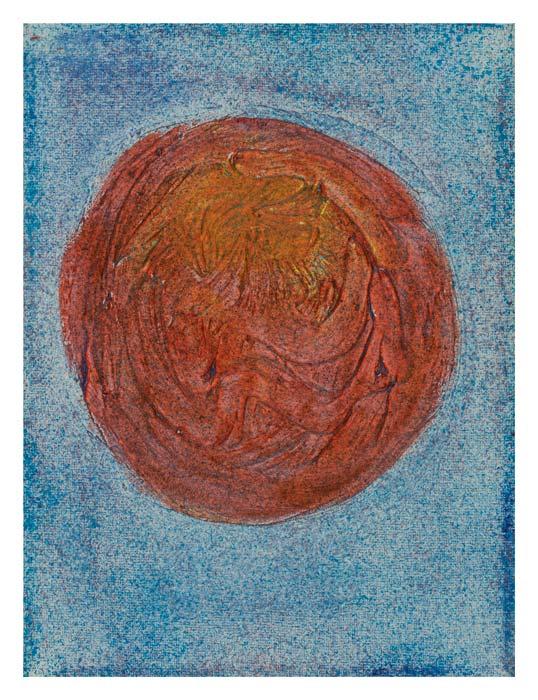 Oranje cirkel Oude munt 17 op 24 cm | Te Koop