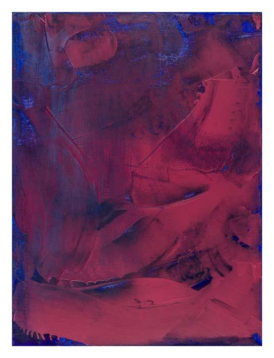 Rood en Yves Klein Blue 30 op 40 cm | Te Koop