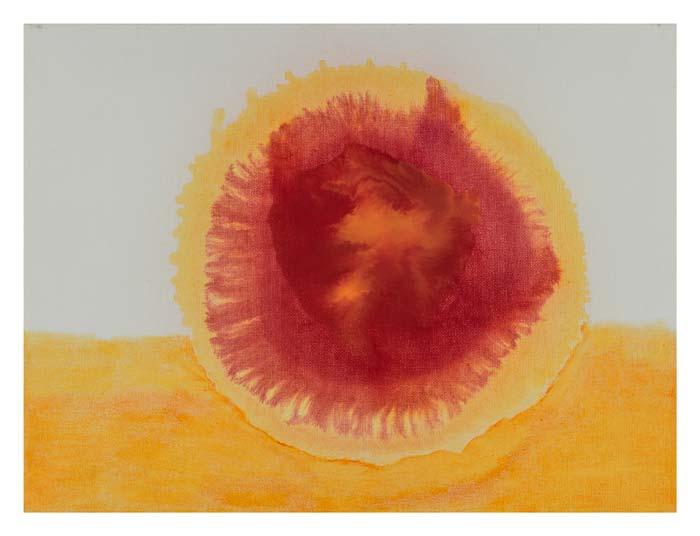 Rood geel in oranje 30 op 40 cm | Te Koop