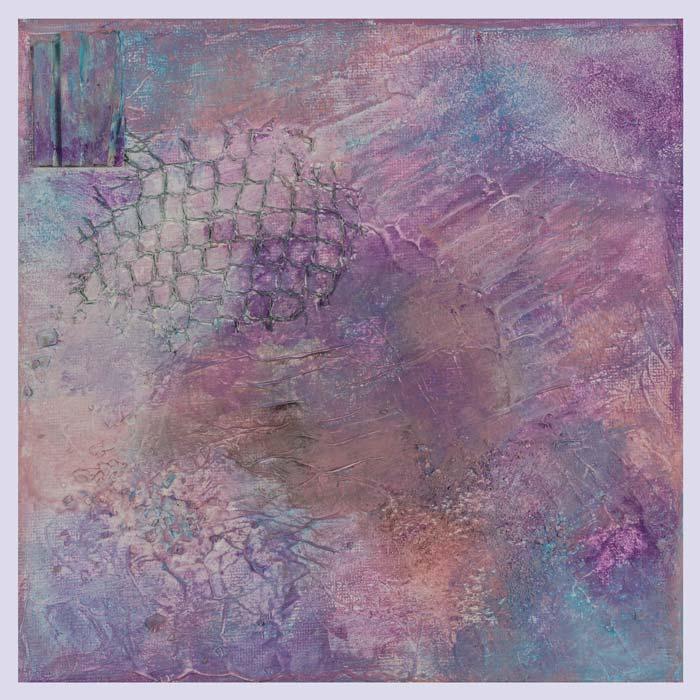 Roze, paarse en blauwe accenten 20 op 20 cm | Te koop