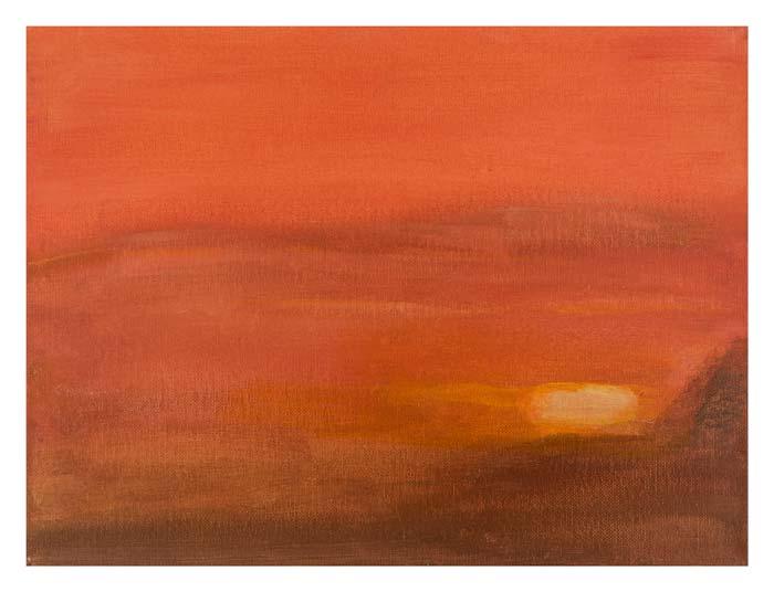 Zonsondergang boven Voorburg 1 30 op 40 cm | Te Koop