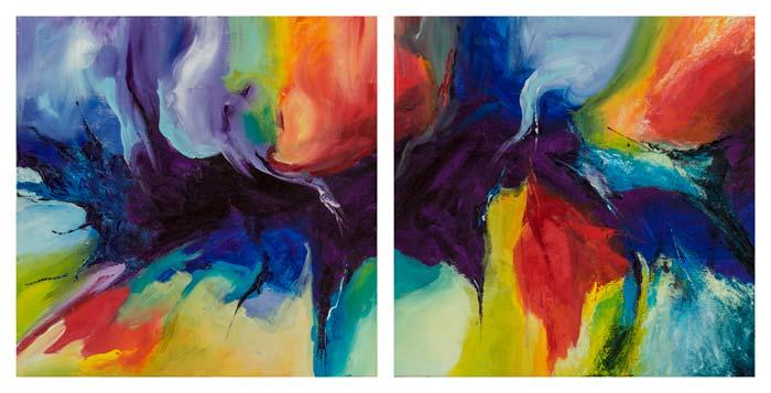 Overlopende primaire kleuren 3 en 4 50 op 50 cm | Te Koop