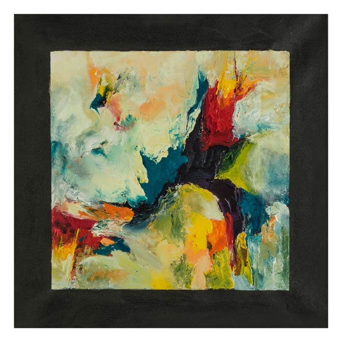Primaire kleuren gedragen in zwarte lijst 50 op 50 cm | Te Koop