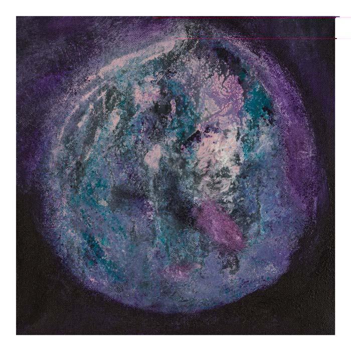 De Paarse planeet 30 op 30 cm | Te Koop