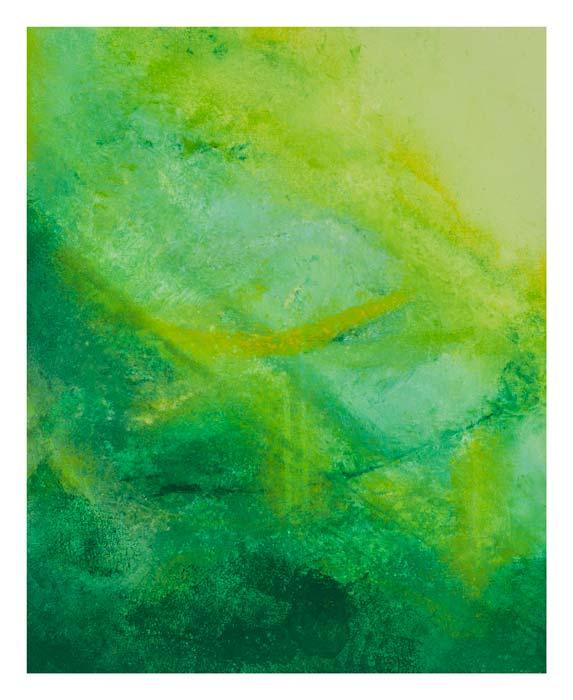 Veel groen en geel 40 op 50 cm | Te Koop