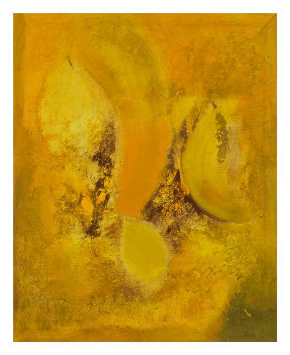 Geel, oranje, bruin 40 op 50 cm  | Te Koop