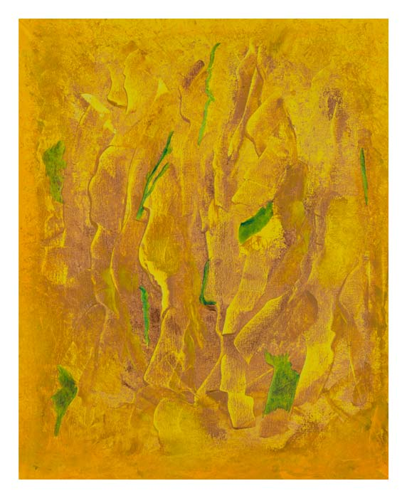 Geel, oranje, brons 40 op 50 cm | Te Koop